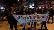Како изгледају протести ван Београда