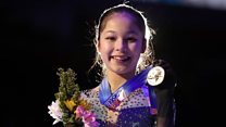 The youngest lady to land a triple axel