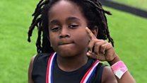 کیا آپ اس سات سالہ بچے کو دوڑ میں ہرا سکتے ہیں؟