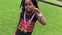 O velocista de apenas 7 anos que quer derrubar recorde de Usain Bolt