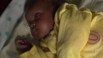 'We put our baby in a bag to flee hospital'