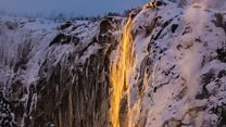 'Firefall' in Yosemite stuns visitors