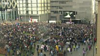 Thousands attend Tommy Robinson BBC demo