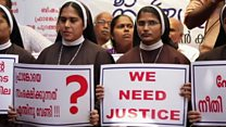 Nuns protest alleged rape by bishop