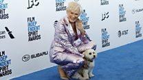 Glenn Close's Spirit Award doggy date