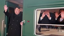 Cheers for Kim Jong-un as he leaves for Hanoi