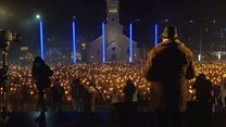 Факельное шествие эстонских националистов