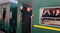 Kim Jong-un and his train
