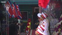 Tàu hỏa với các lãnh đạo họ Kim của Bắc Hàn