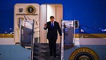 Donald Trump arrives in Vietnam