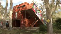 Hurricane survivor's unusual new home