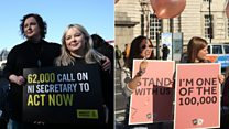 NI abortion law protests held at Westminster
