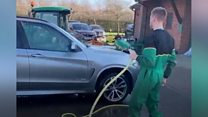 'Wheel fine' player cleans manager's car