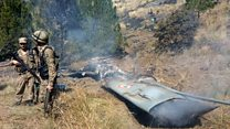 Footage appears to show downed India plane