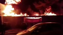 Fire rips through tyre factory