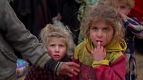 Leaving IS's last Syria stronghold
