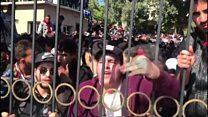 Students face police in Algeria protest