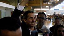 Crowds greet Juan Guaidó on Venezuela return