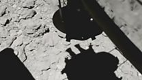 Video shows moment of asteroid touchdown
