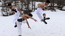 Karate in the snow