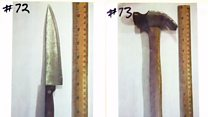 The unit tackling knives and other weapons