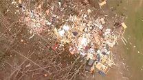 Aerials show Alabama tornado destruction
