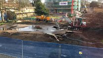 Timelapse unearthing water tank at Lincoln Cathedral