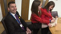 Pupils 'give first aid' to MSP Whittle