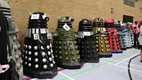Mass Dalek gathering in Wiltshire