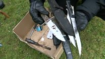 Knife haul found in parkland sweep