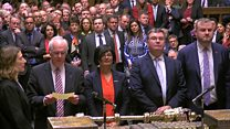 MPs reject PM's Brexit deal by 149 votes
