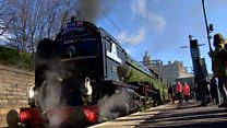 All aboard the steam-hauled train