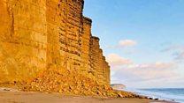 Massive cliff collapse