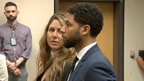 Jussie Smollett pleads not guilty in court