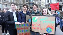 Students protest climate change