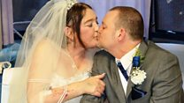 Terminally ill bride in hospital wedding