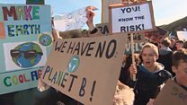 School pupils walkout over climate change