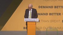 Sir Vince Cable criticises government's handling of Brexit