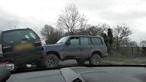 Hunt saboteurs' car 'rammed'