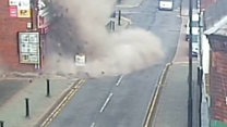 Gas explosion caught on CCTV