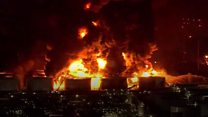 Houston chemical fire to rage for days