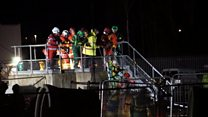 Site rescue after worker gets trapped