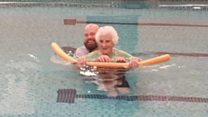 Lilian takes up swimming again aged 103
