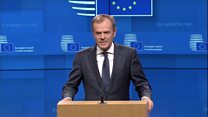 Tusk: Extension conditional on positive Brexit vote