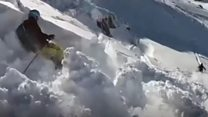 Avalanche escape and a tidy mouse