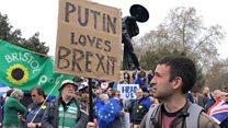 """В Лондоне сотни тысяч людей потребовали нового референдума о """"брексите"""""""