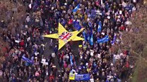 Aerial footage of huge Brexit march