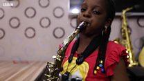"""I heal people wen I play di Saxophone"""