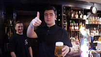 The barman living his dream pulling pints