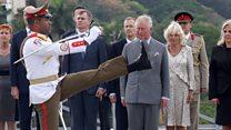 Royals arrive in Cuba